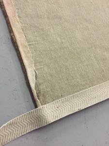 installing border on rug backing