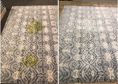 Viscose rug stain removal