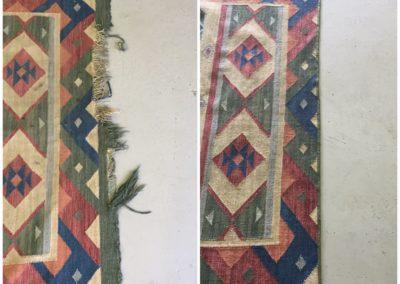 Dhurrie rug repair