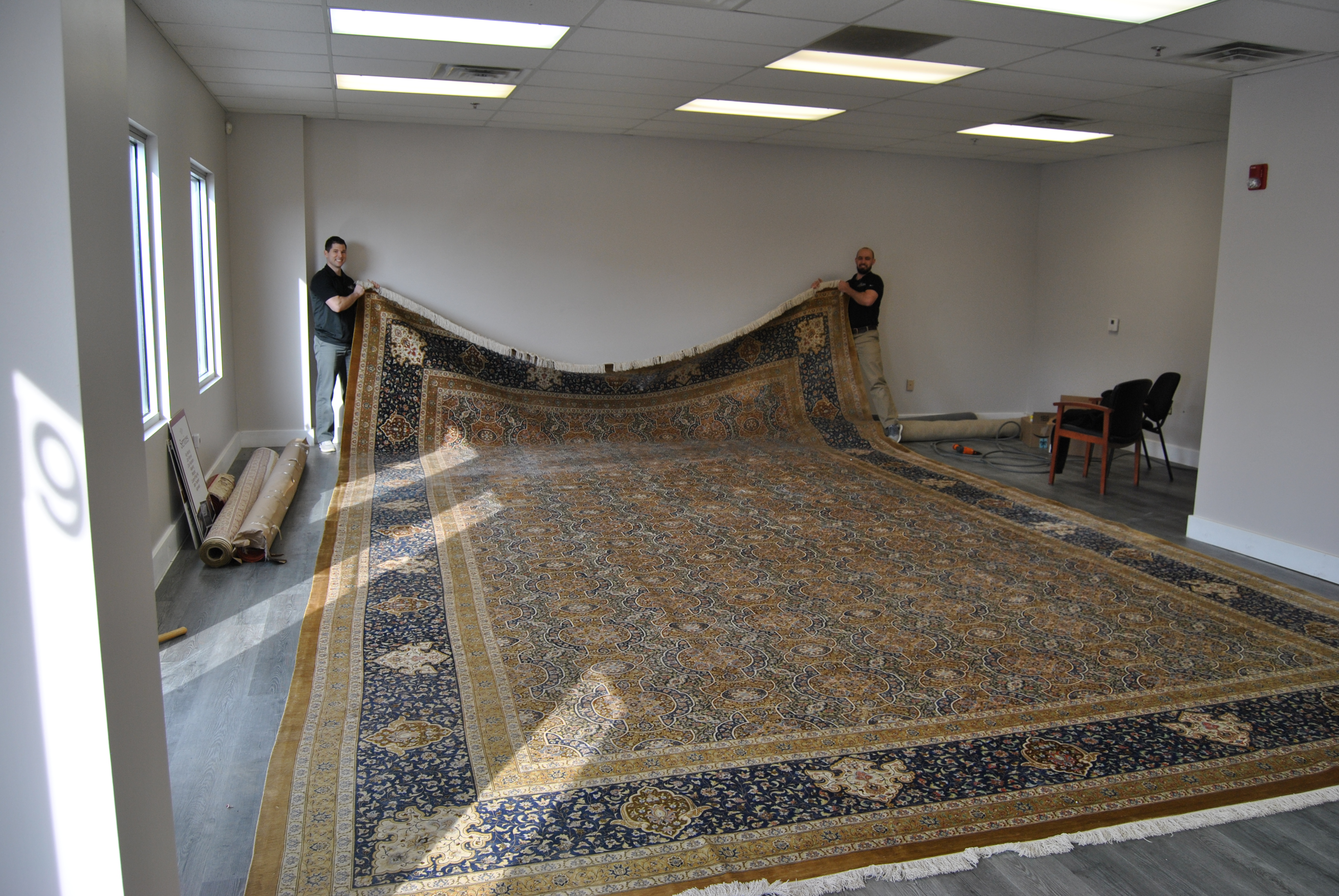 Large silk rug