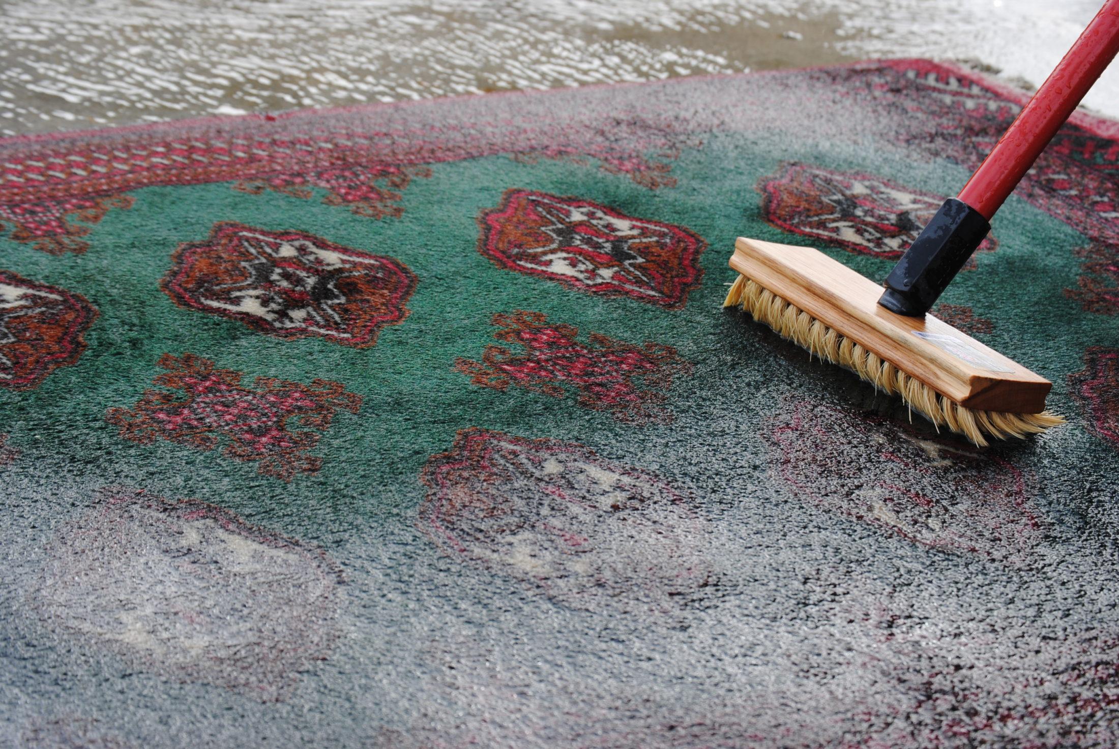 Washing a persian rug