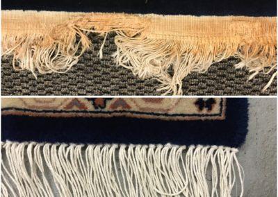 Restoring fringe on Indian hand-made rug