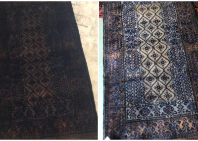 oriental rug dye correction before after