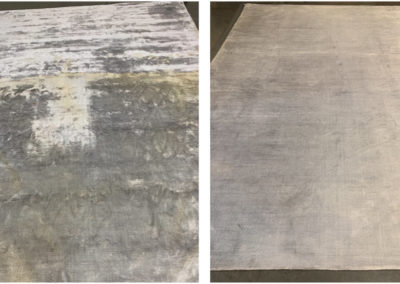 Viscose before and after cleaning