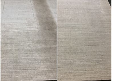 Viscose rug - Before and after cleaning