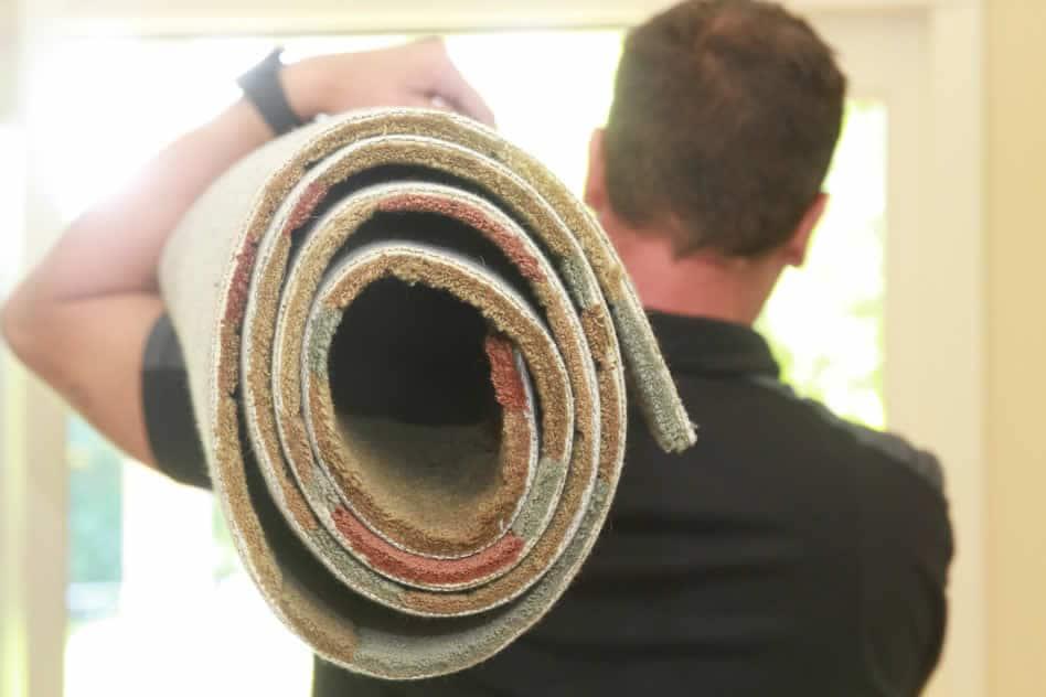Carrying wool rug
