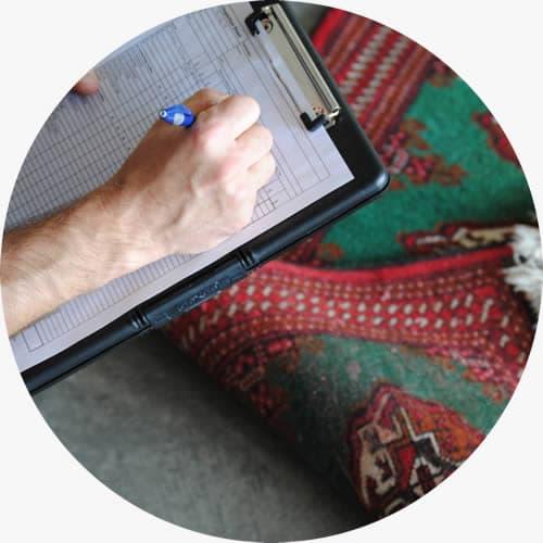 rug pre inspection