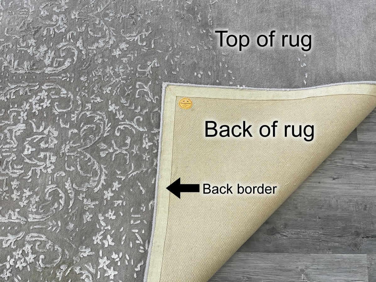 Tufted wool rug